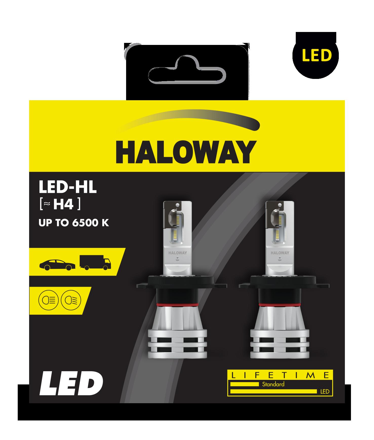LED H4 HAL